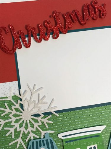 City Sidewalks Christmas Layout Inspired Paper Crafts