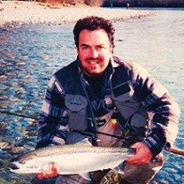Andre Stepanian with steelhead in hand :: Inspired Spaces