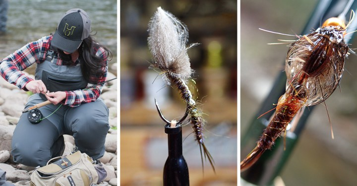 Nicole March ~ CDC Articulated Emerger ~ Wet Soft Hackle Nymph :: Inspired Spaces