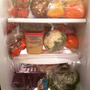 fridge full produce