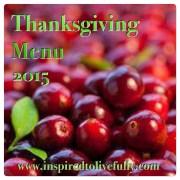 thanksgiving menu 2015