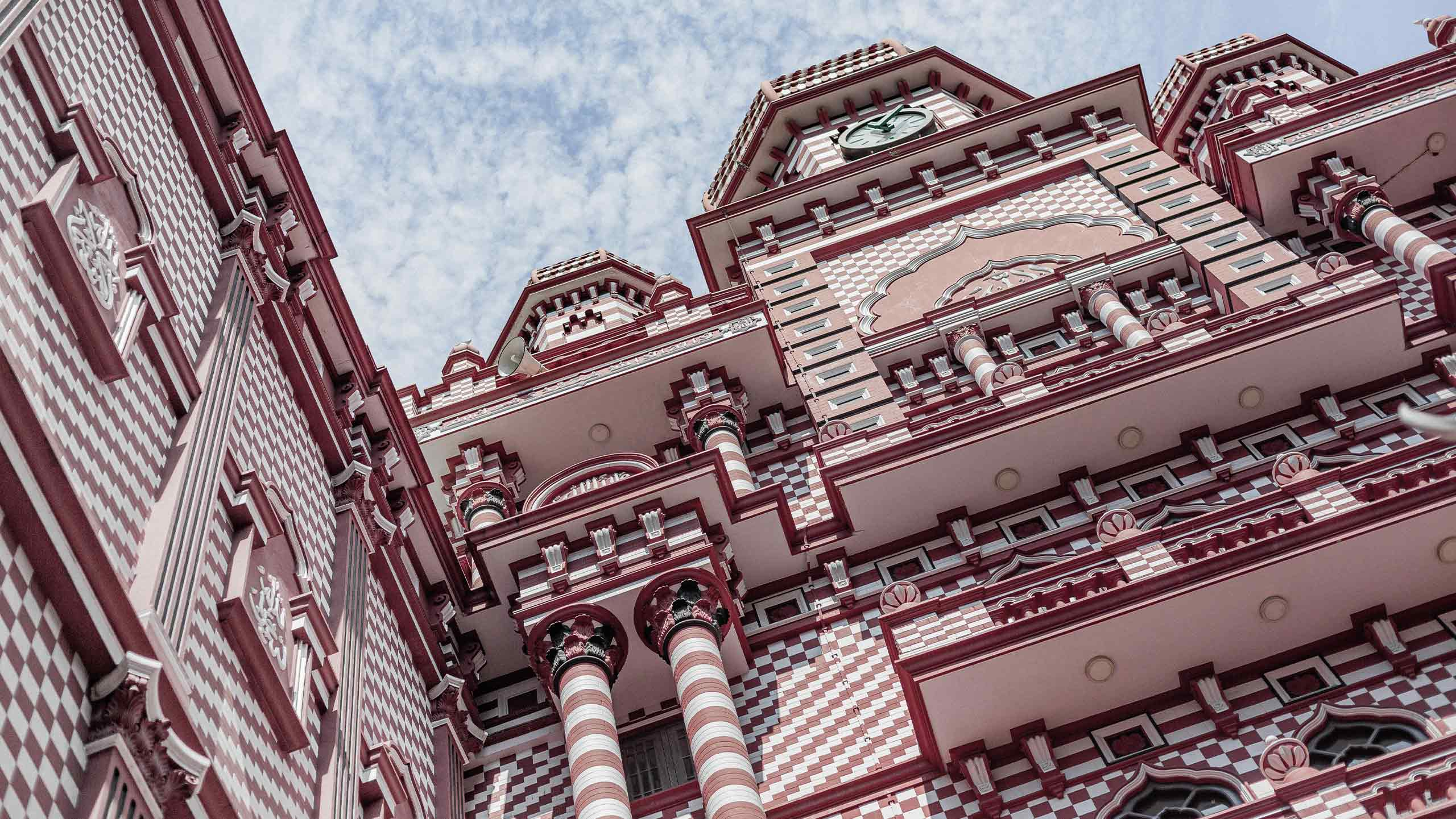 red mosque in sri lanka