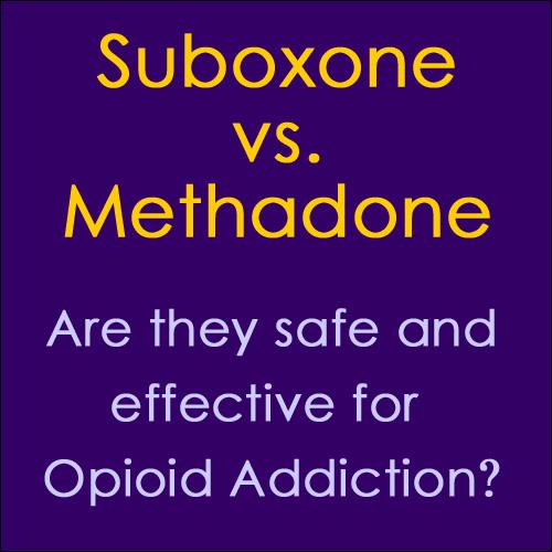 Suboxone vs Methadone for addiction treatment