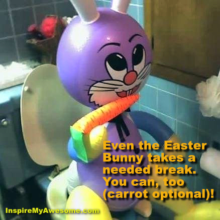 Easter Bunny Takes a Break