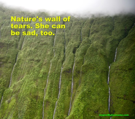 Nature's Wall of Tears at Mt. Waialeale.