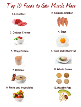10 Muscle Gaining Foods