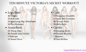 10 Minute Victoria's Secret Workout