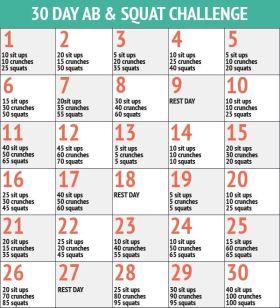 30 Day Ab & Squat Challenge