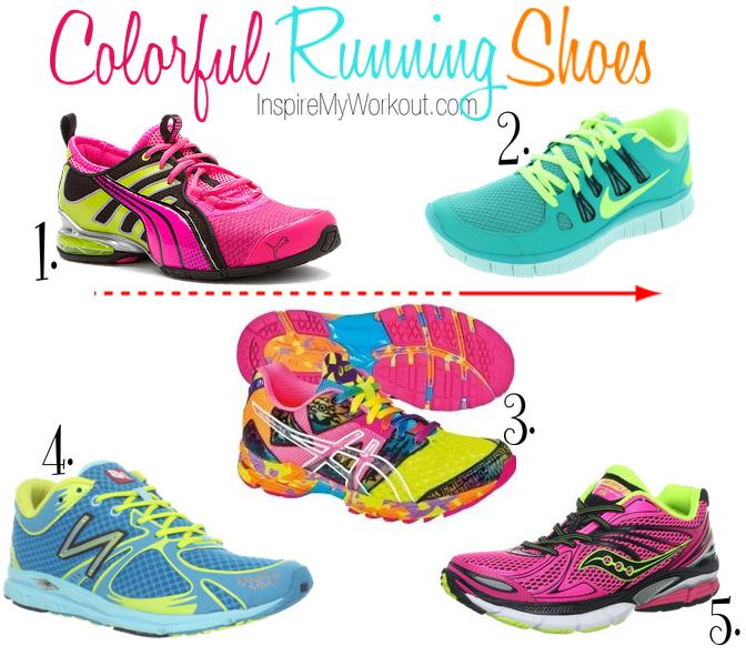 Colorful Running Shoes - InspireMyWorkout.com - A