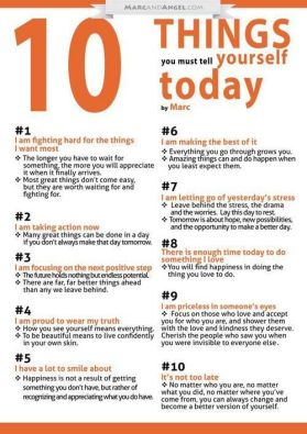 Ten things you must tell yourself today
