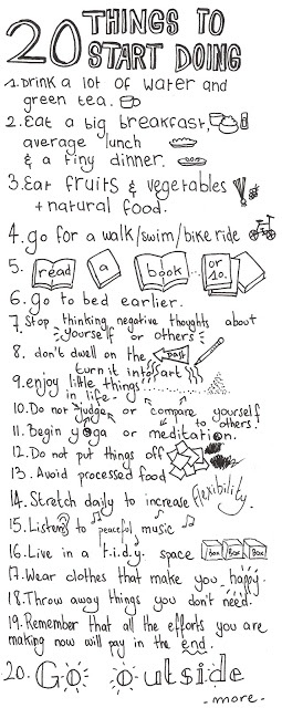 20 things to start getting healthy