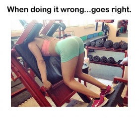 When doing it wrong, goes right.