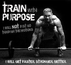 Train with purpose