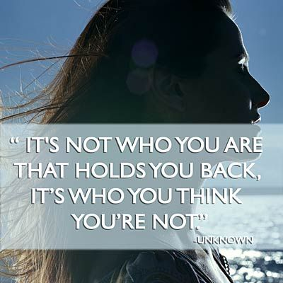 Its not who you are who hold you back