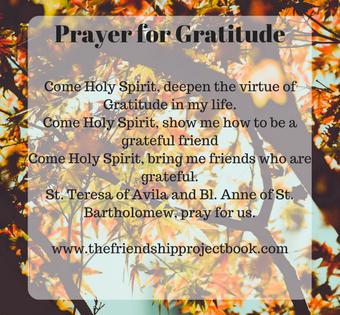 In Gratitude for Friendship