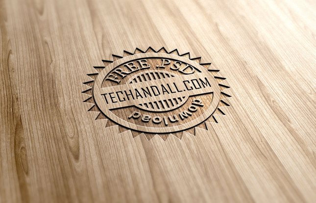 Wood engraved effect