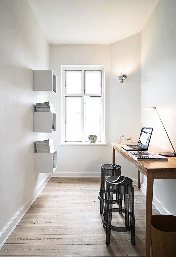 Interior Inspiration: studio in bianco e nero