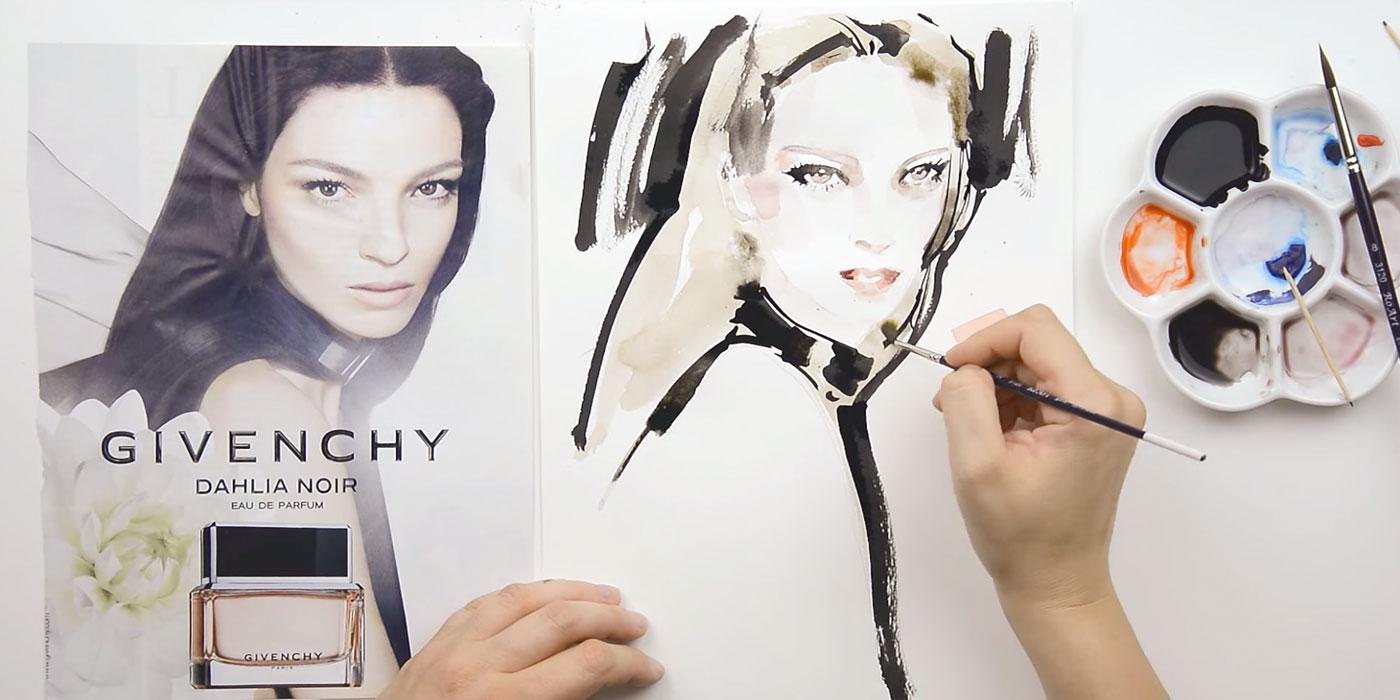 Come disegnare ritratti di moda
