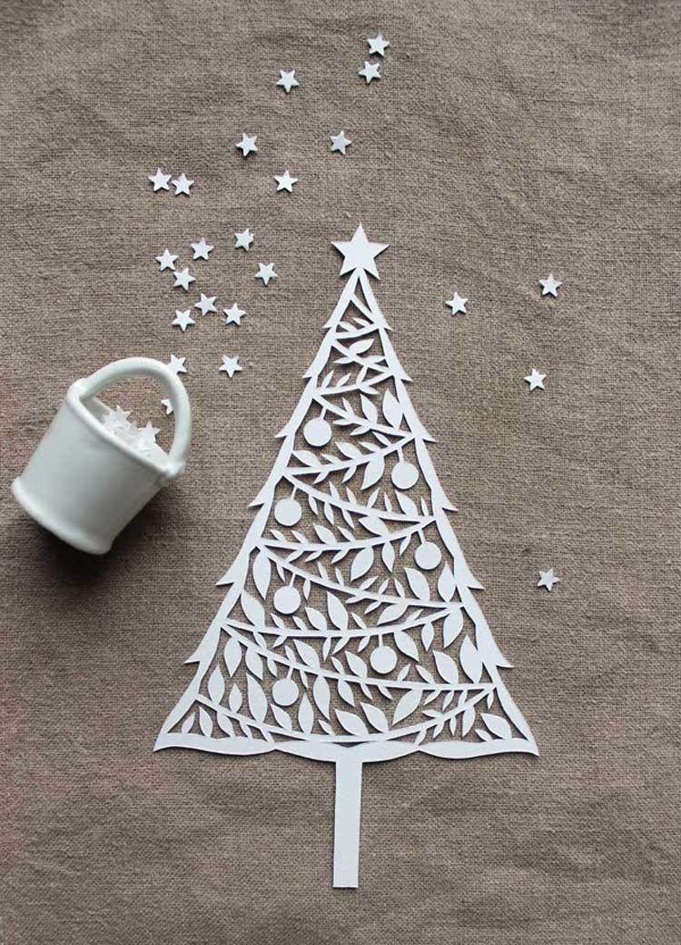 decorare casa per Natale con la carta