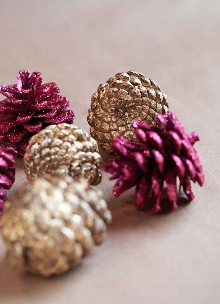 Come decorare casa per Natale con il glitter