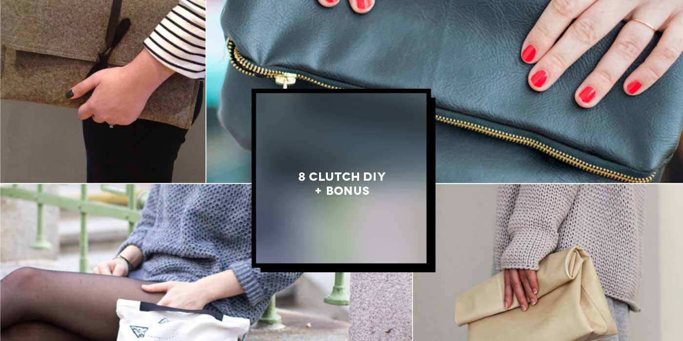 8 Projects to create a clutch bag DIY