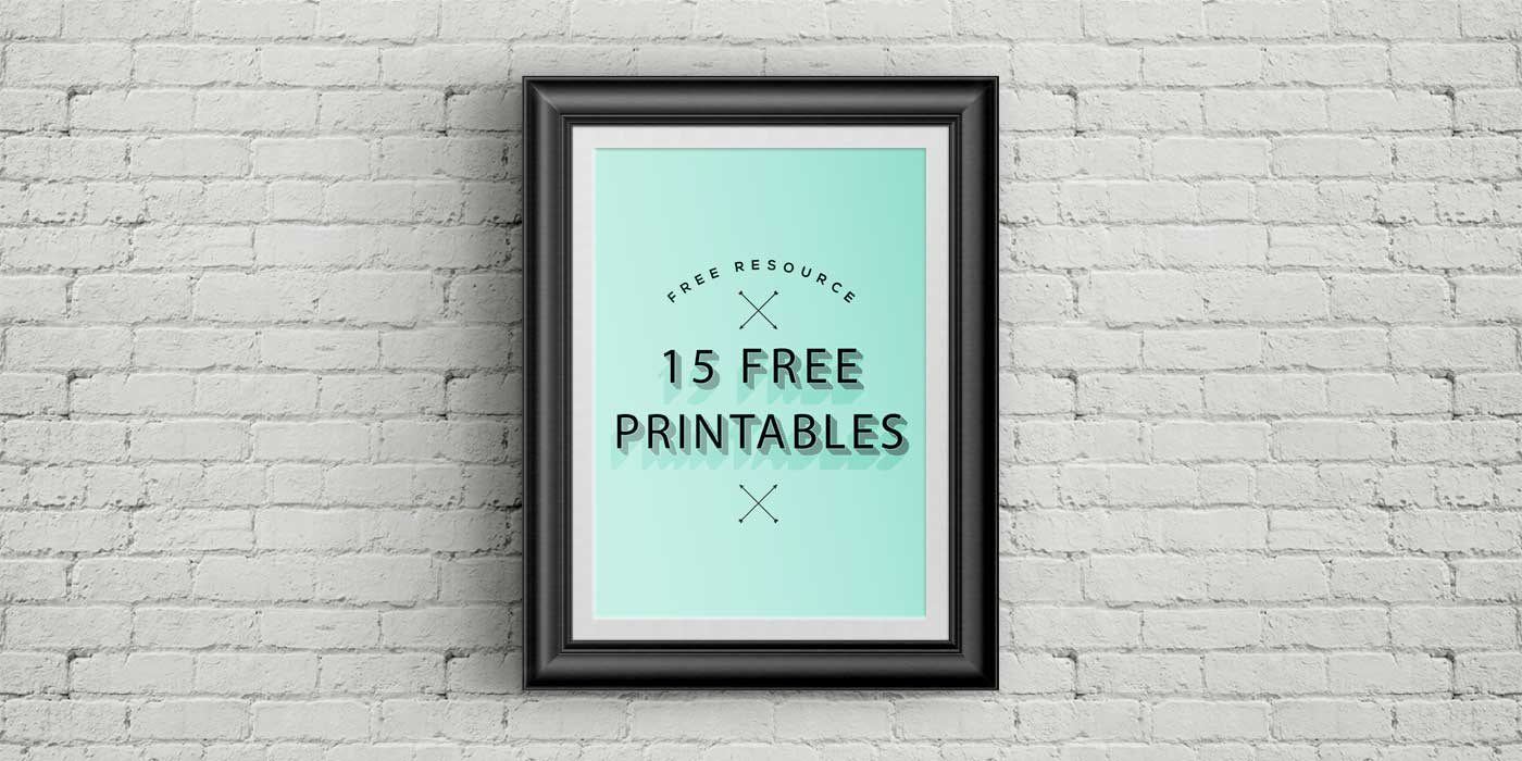 15 Free Printables for your home