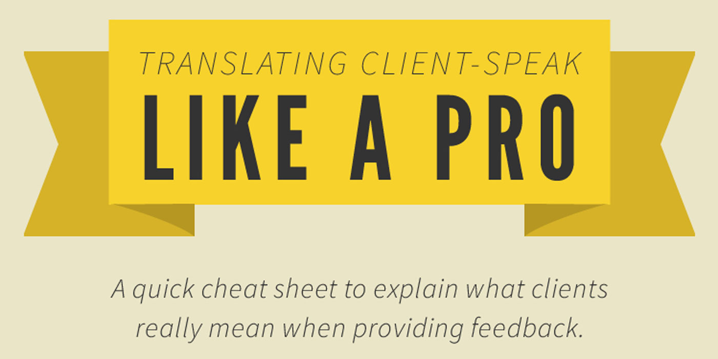 The translator on the chart as to understand what the customer wants