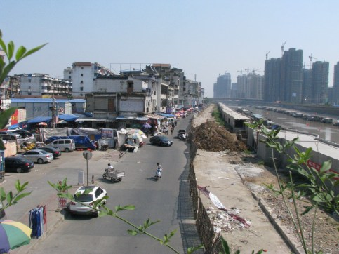 003 - Back street and Junks at end of main area of Wuhu