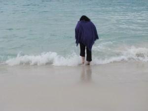 012 - birthday girl getting wet feet