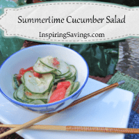 Summertime Cucumber Salad With a Kick Recipe