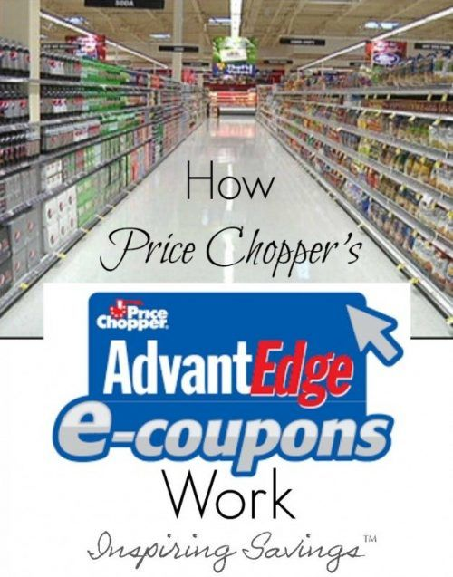 "Inside Price Chopper grocery store - image overlay ""How Price Chopper AdvantEdge eCoupons work"""