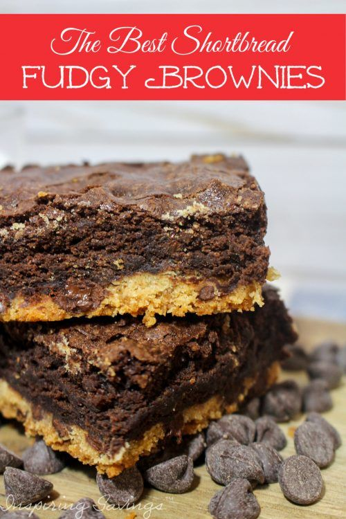 Love a good brownie or Shortbread cookie? Then you'll love these Shortbread fudgy brownies that combine a classic shortbread cookie recipe with a fudgy chocolate brownie recipe. Add in a handful of chocolate chips morsels hiding inside these brownies.