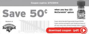 hannaford coupon