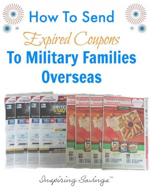What do you do with the small mountain of your unused and expired coupons every month? Donate them. Military families overseas can use coupons up to six months past their expiration date