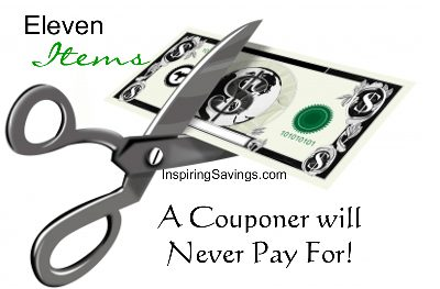 Eleven Items A Couponer will never pay for