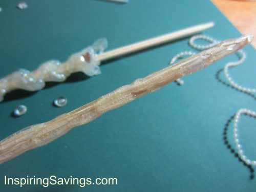 Hot Glue Being Added to tip of Wizard Wand