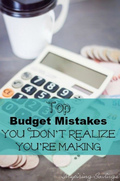 calculator with text overlay - Top Budget Mistakes You Don't Realize You're Making