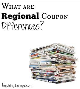 Stack of Newspapers with text overlay - What are regional coupon difference