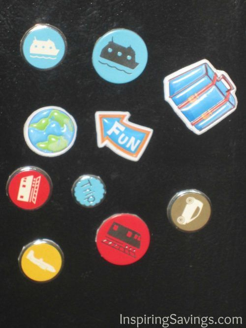 finished recycled refrigerator magnets