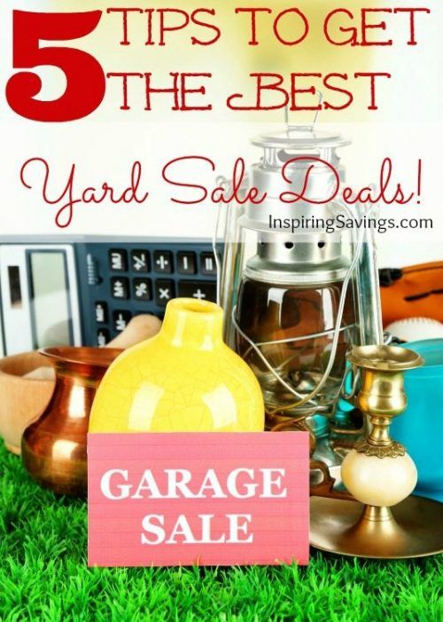 Warmer weather is here and for frugal shoppers everywhere that means yard sales! Don't go into it not prepared. Learn How to shop yard sales like a pro (Finding the Best yard sale deals): tons of tips for finding the best sales, scoring the best finds, and bargaining your way to killer prices!