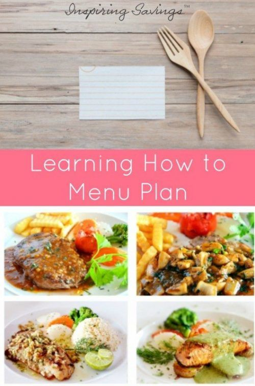 Food costs are one of your most flexible expenses. These meal planning tips can help you save money, eat healthfully, and enjoy great meals. Learn how to menu plan, plus get free menu printable sheets to help.