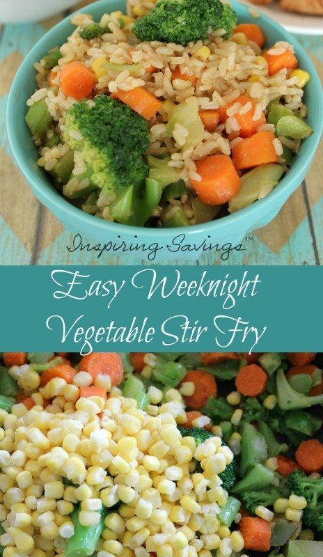 Don't have a lot of time for dinner?Need an easy dinner idea? Want healthy food and not fast food? This Easy Weeknight Vegetable Stir Fry uses many items you already have on hand. Need an easy dinner idea?