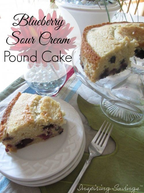 If you're a blueberry lover, this delicious Classic Blueberry Sour Cream Pound Cake is for you. It's a moist, dense, buttery pound cake packed with plump, juicy blueberries. Bake this cake for dessert or even breakfast