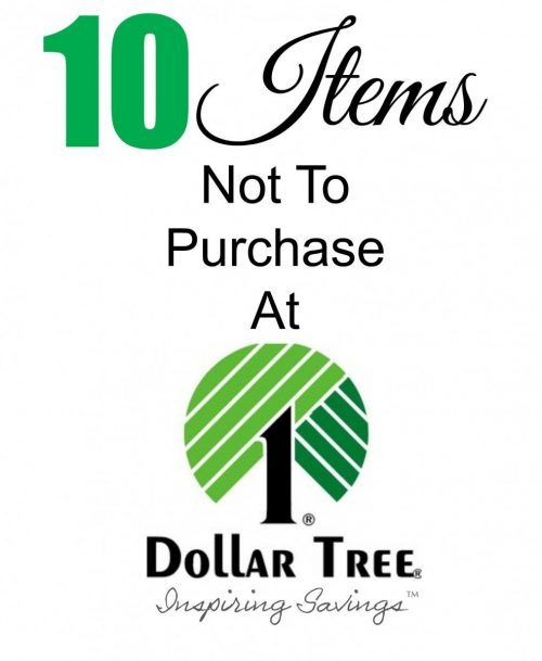 Are you a Dollar Tree Shopper? Over the years I have purchased many items from the Dollar Tree Store that are just not worth the money.  Please don't waste your money. See my list of 10 Dollar Tree Deals to Avoid.