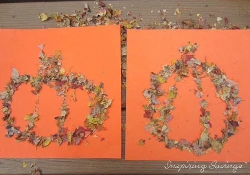 Fun Craft With Autumn Leaves - Turn Leaves Into Glitter (completed Project)