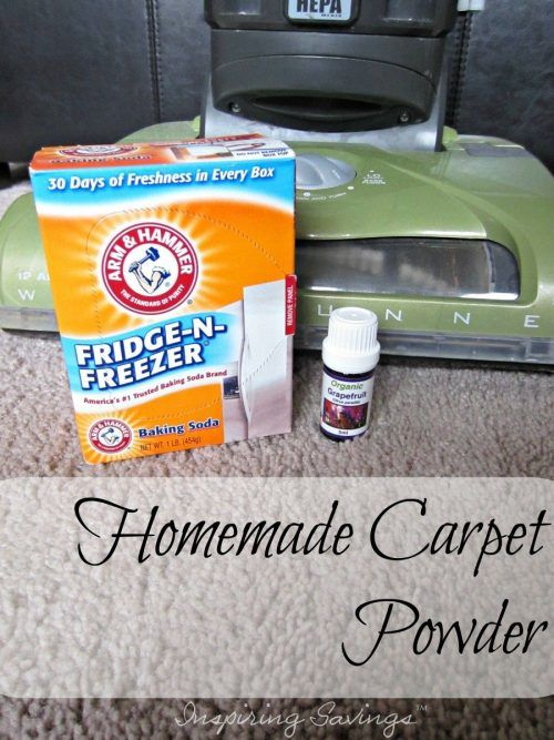 Got odors. Try this DIY 2 Ingredient Odor Busting Homemade Carpet Powder Recipe! Just make it, sprinkle it and vacuum the odors away. Your house will smell amazing.