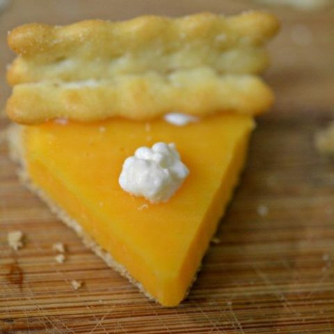 Mini Pumpkin Pies - Made with Cheese & Crackers