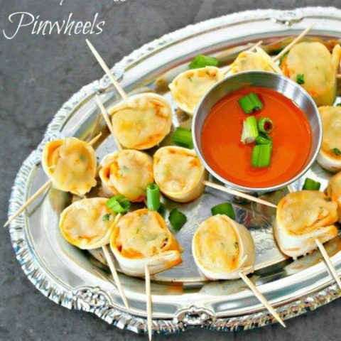 Cheesy Buffalo Chicken Pinwheels - Appetizer