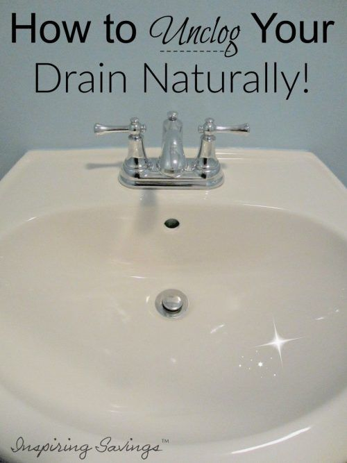 White Bathroom Sink - Naturally unclog your drain