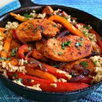 Chicken Fajita Rice Skillet Meal - One Pan
